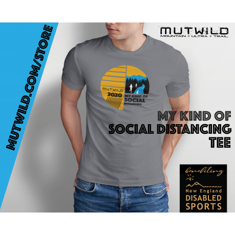 MY KIND OF SOCIAL DISTANCING TEE - benefiting New England Disabled Sports