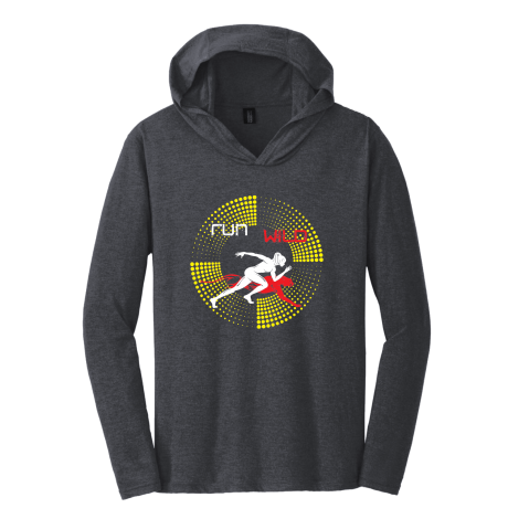 RUN WiLD HOODIE - red and yellow print